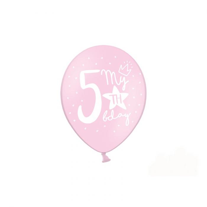 Set 6 Baloane Aniversare 5 ani - 30 cm [3]