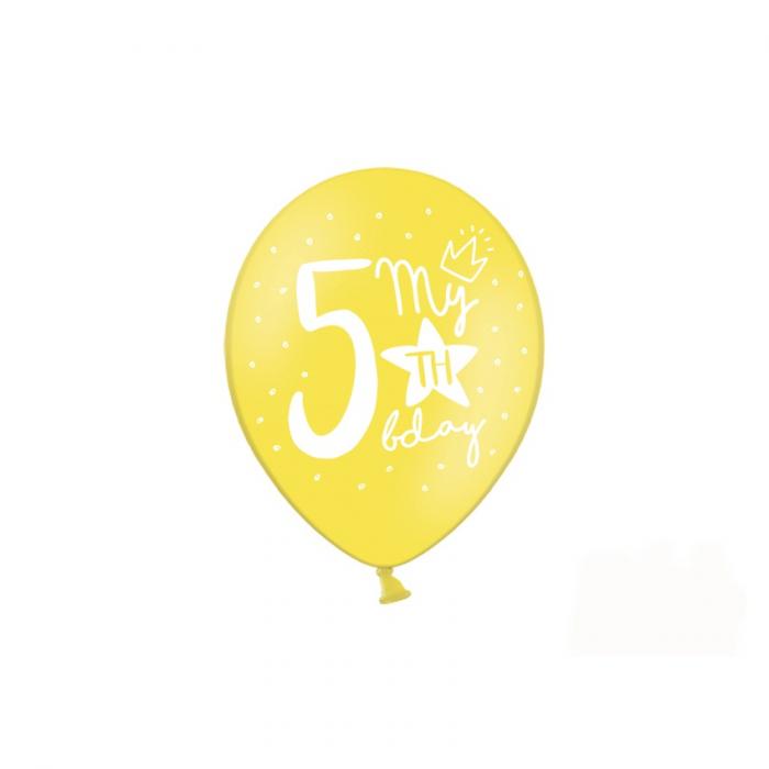 Set 6 Baloane Aniversare 5 ani - 30 cm [5]