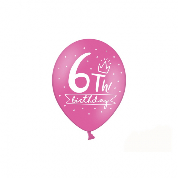Set 6 Baloane Aniversare 6 ani - 30 cm 3