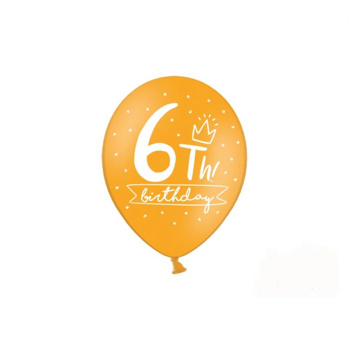 Set 6 Baloane Aniversare 6 ani - 30 cm 2