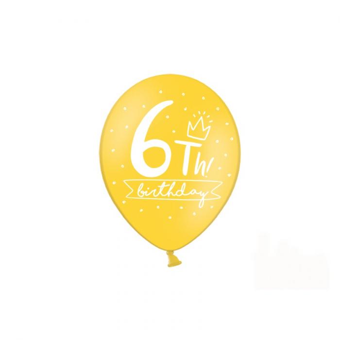 Set 6 Baloane Aniversare 6 ani - 30 cm 4
