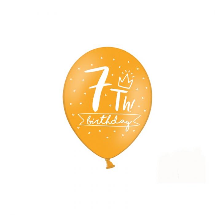Set 6 Baloane Aniversare 7 ani - 30 cm 5