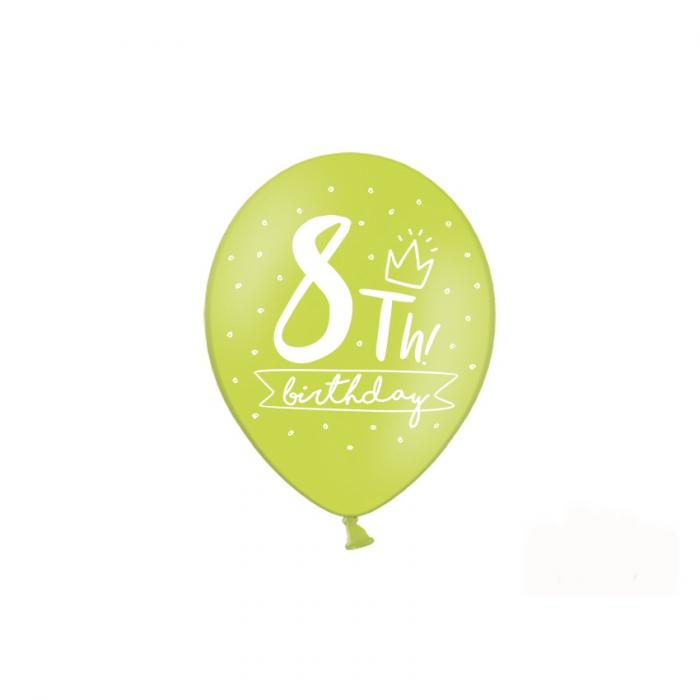 Set 6 Baloane Aniversare 8 ani - 30 cm 5