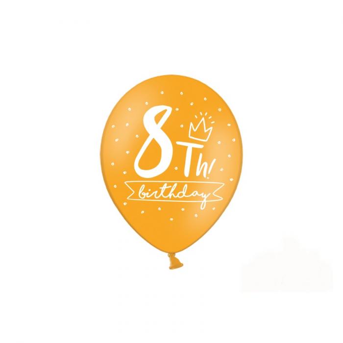 Set 6 Baloane Aniversare 8 ani - 30 cm 2
