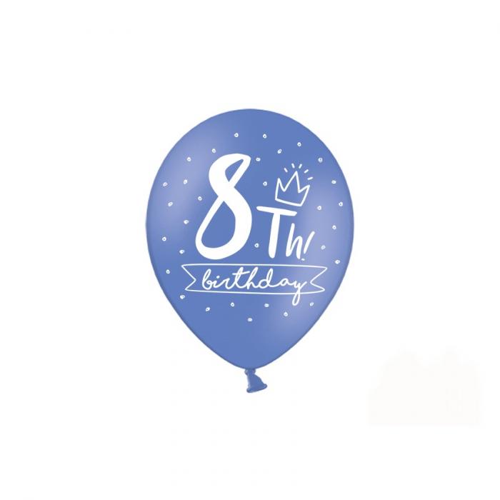 Set 6 Baloane Aniversare 8 ani - 30 cm 1