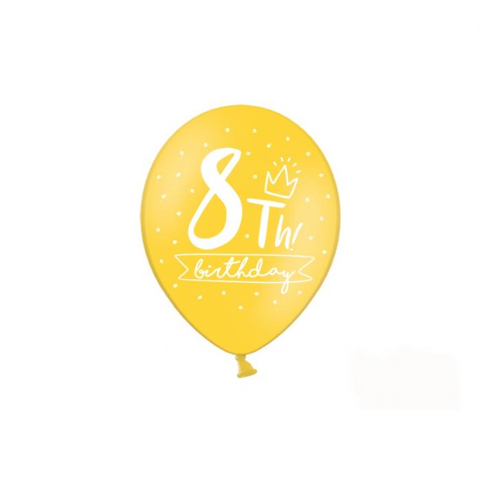 Set 6 Baloane Aniversare 8 ani - 30 cm 4
