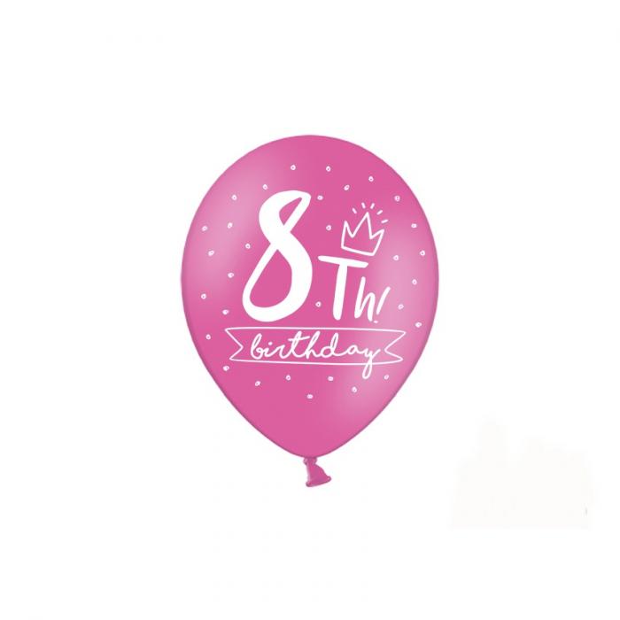 Set 6 Baloane Aniversare 8 ani - 30 cm 3