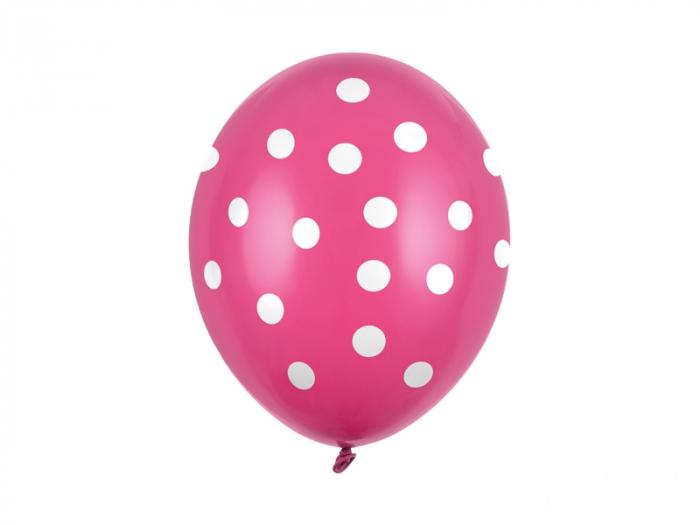 Set 6 Baloane Roz cu buline - 30 cm [0]