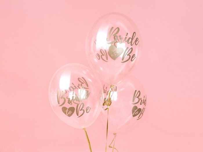 Set 6 Baloane Transparente Bride to Be - 30 cm 1
