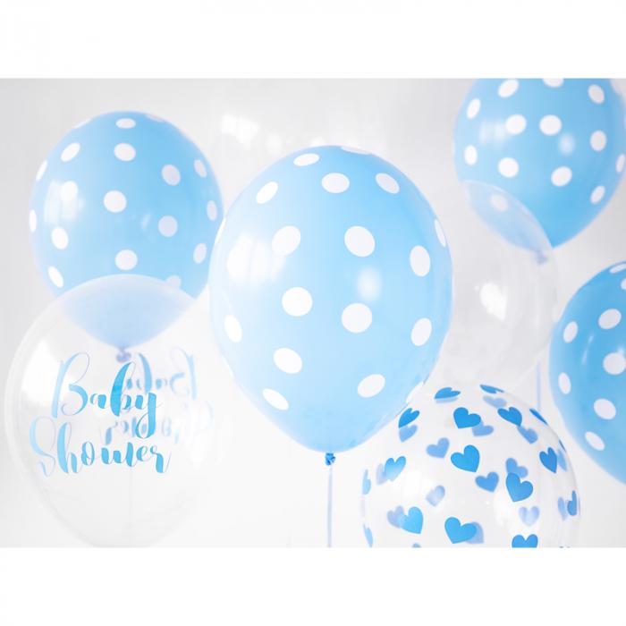 Set 6 Baloane Transparente cu inimi - 30 cm 1