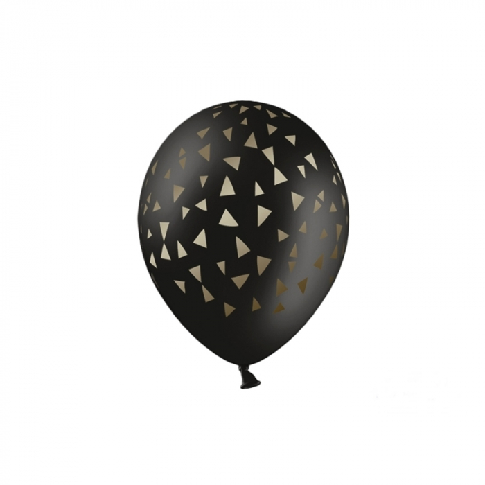 Set 6 Baloane Triunghiuri Aurii - 30 cm 0