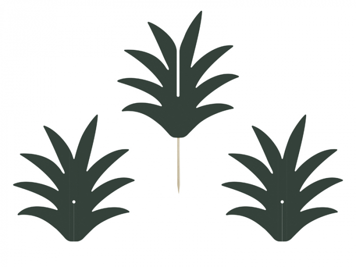 Set 6 Decoratiuni Prajitura - Ananas 1