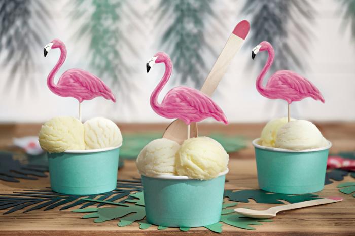 Set 6 Decoratiuni Prajitura - Flamingo 2