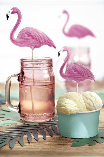 Set 6 Decoratiuni Prajitura - Flamingo [3]