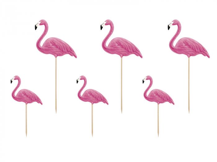 Set 6 Decoratiuni Prajitura - Flamingo 0