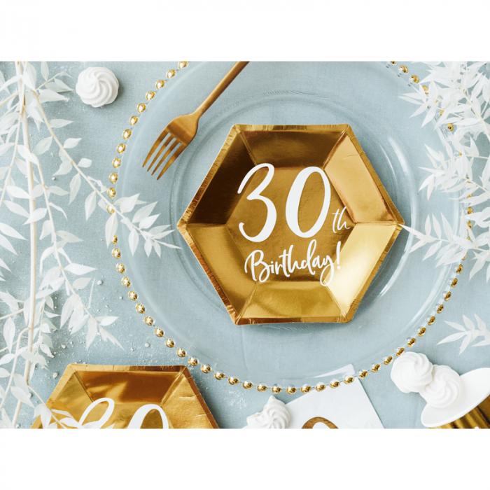 Set 6 Farfurii aniversare 30 ani, 20 cm 1
