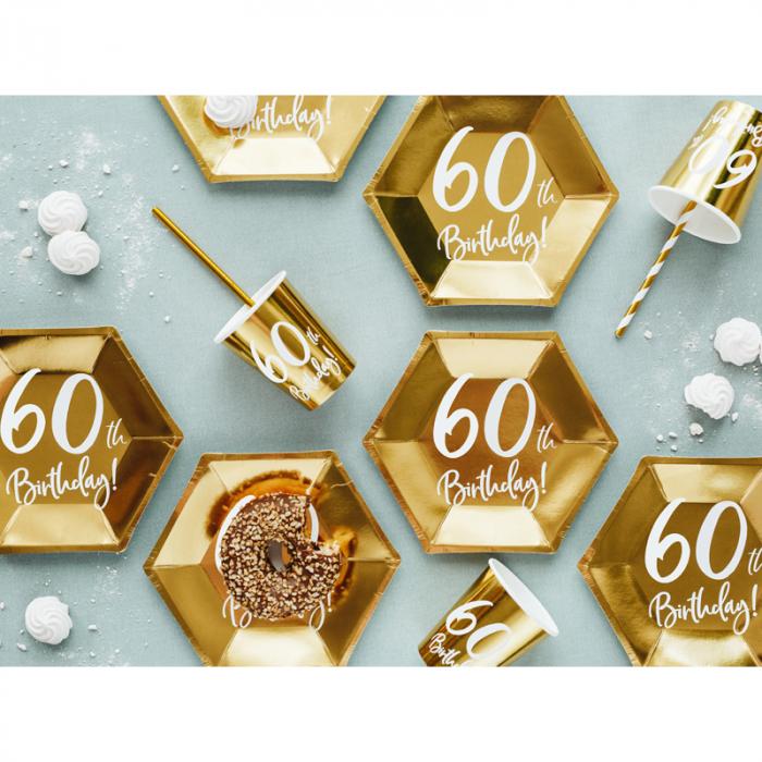 Set 6 Farfurii aniversare 60 ani, 20 cm 2