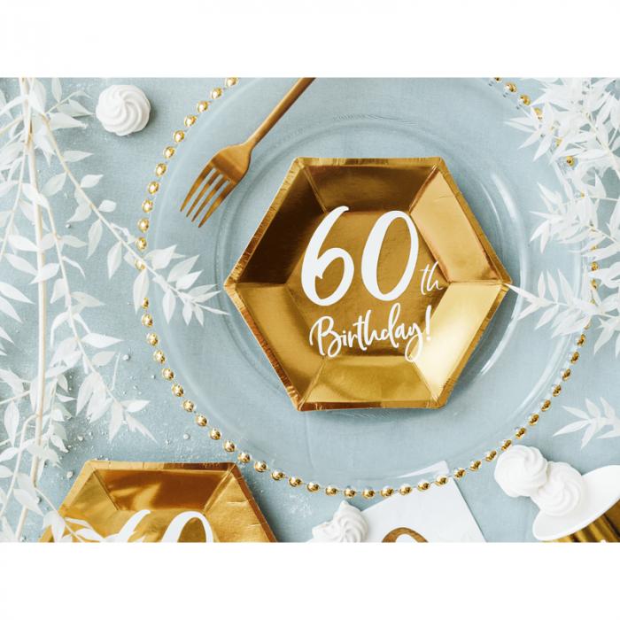 Set 6 Farfurii aniversare 60 ani, 20 cm 1
