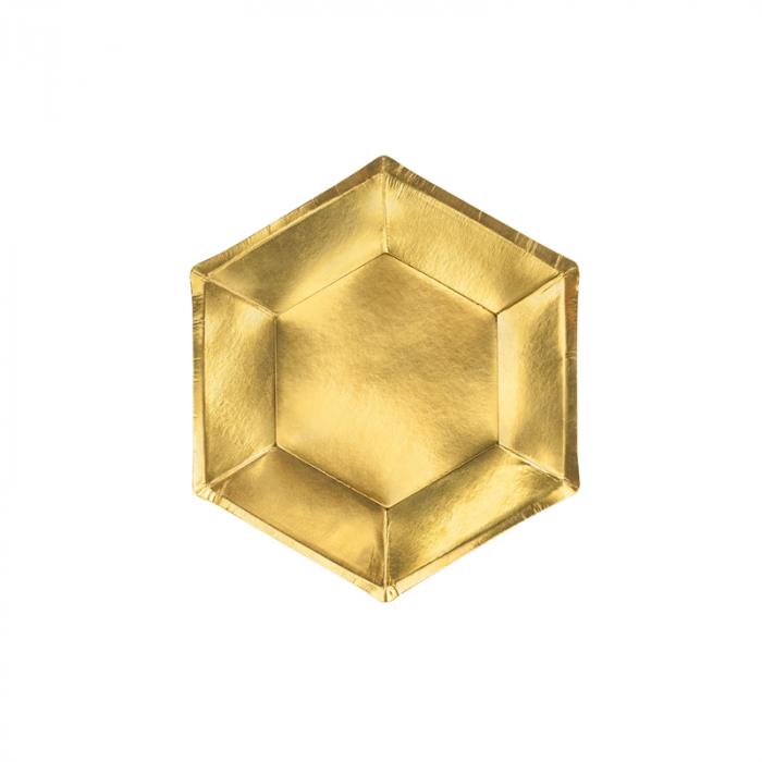 Set 6 Farfurii Aurii, 20 cm [0]