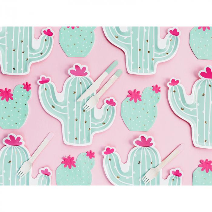 Set 6 Farfurii Cactus, 23 cm 3