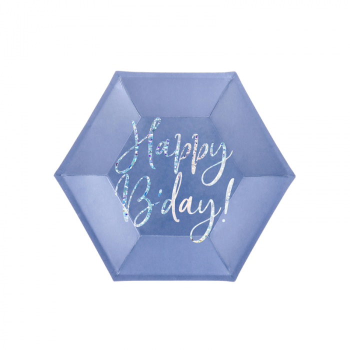 Set 6 Farfurii Happy B'Day!, 20 cm 0