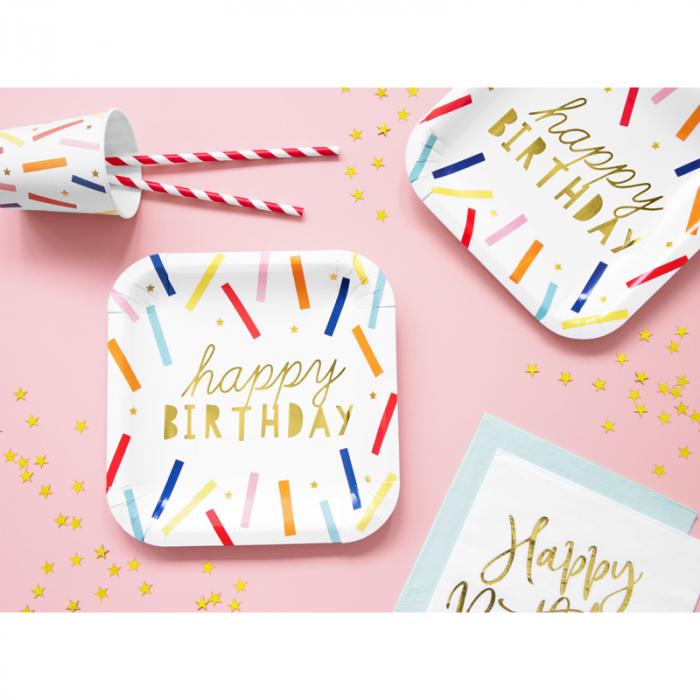 Set 6 Farfurii Happy Birthday, 20 cm [3]