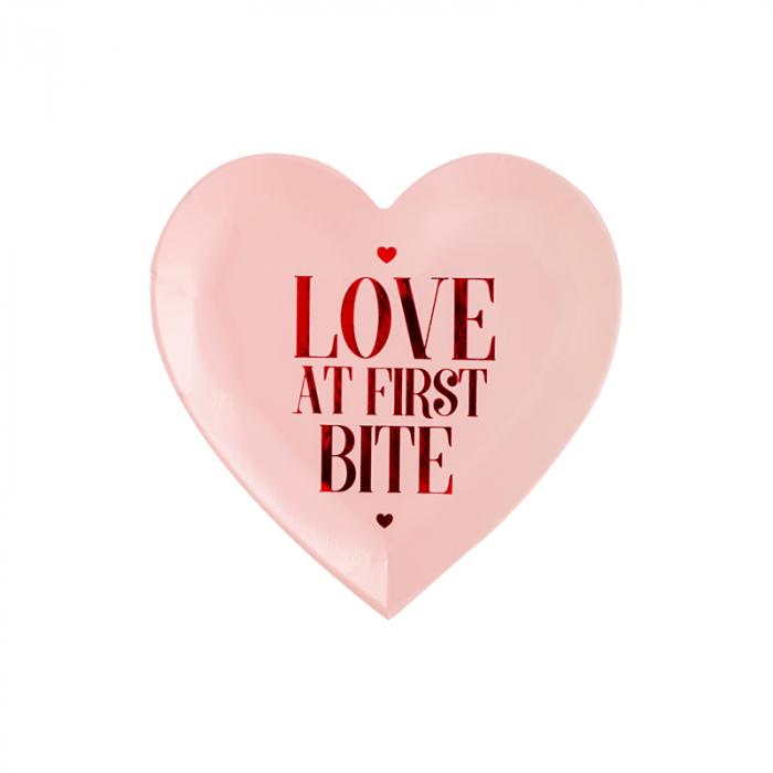 Set 6 Farfurii Love at first bite, 18.5 cm 0