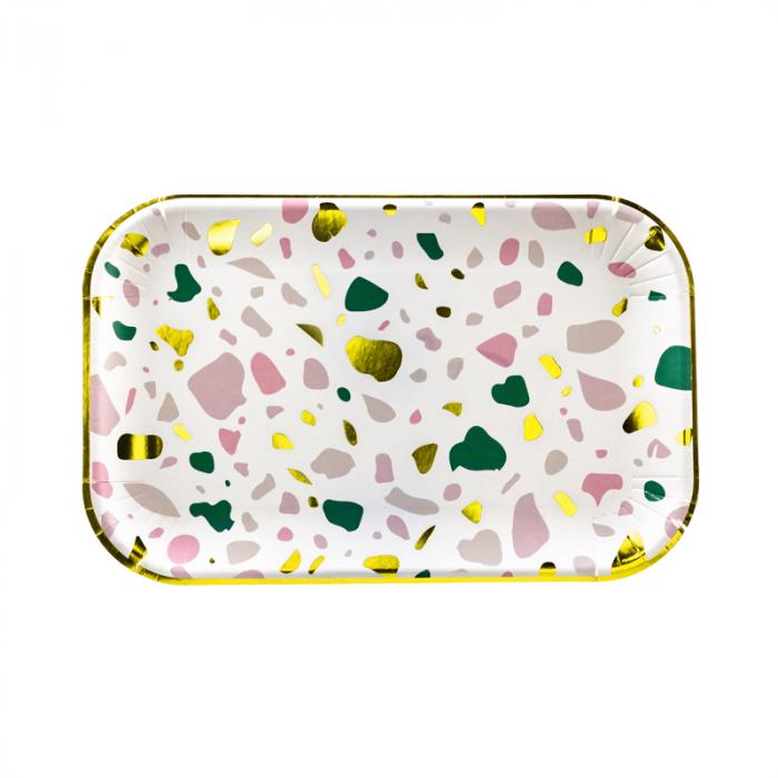 Set 6 Farfurii Multicolor, 22 x 13.5 cm [0]