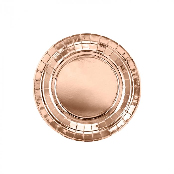 Set 6 Farfurii Rose Gold, 23 cm 0