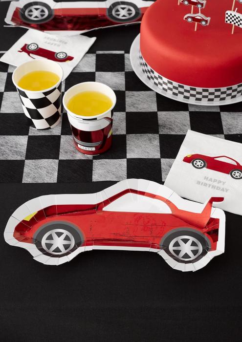 Set 8 Farfurii Masina Party Racer, 30 cm 2