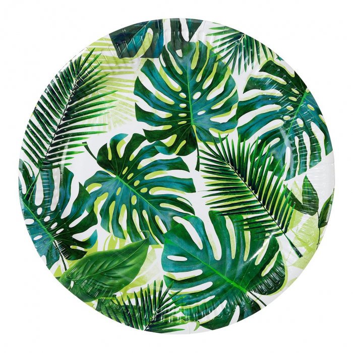 Set 8 Farfurii Frunze Palmier, 23 cm [0]