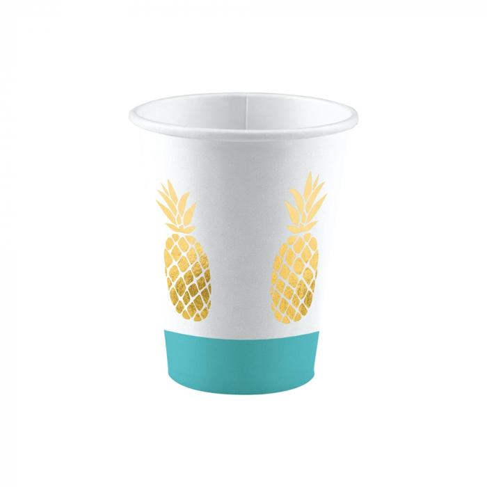 Set 8 Pahare Ananas, 250 ml [0]