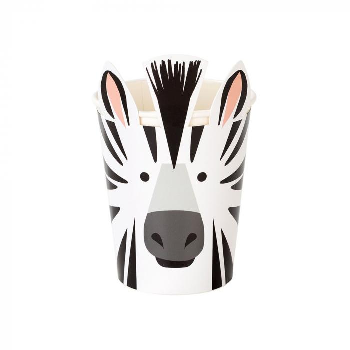 Set 8 Pahare Zebra Party Animals, 250 ml [0]