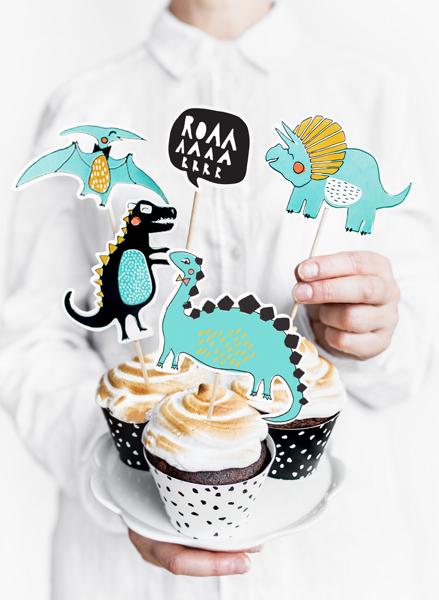 Set Decoratiuni Prajitura - Dinozauri 2