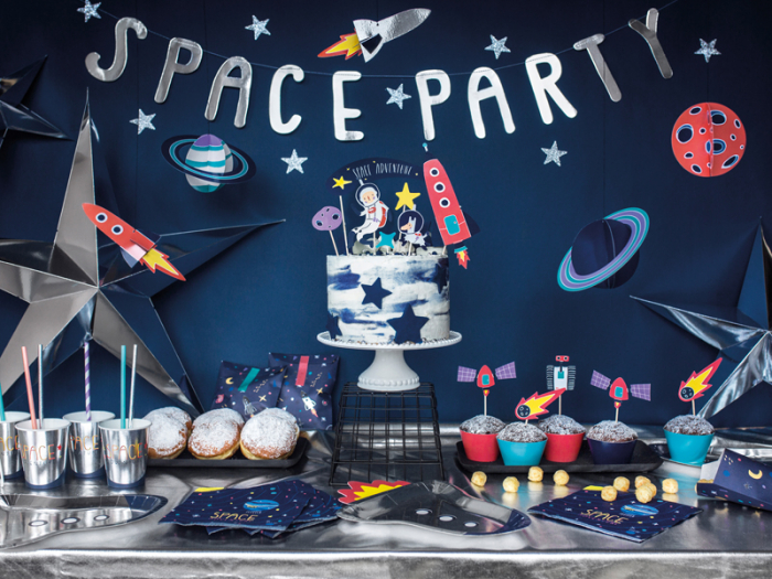 Set Decoratiuni Prajitura - Space Party 3