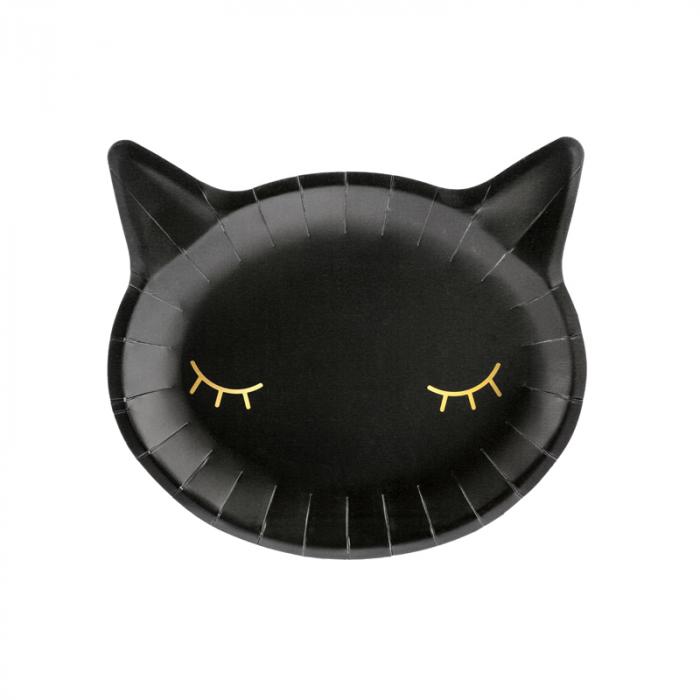 Set Farfurii Cat, negru [0]