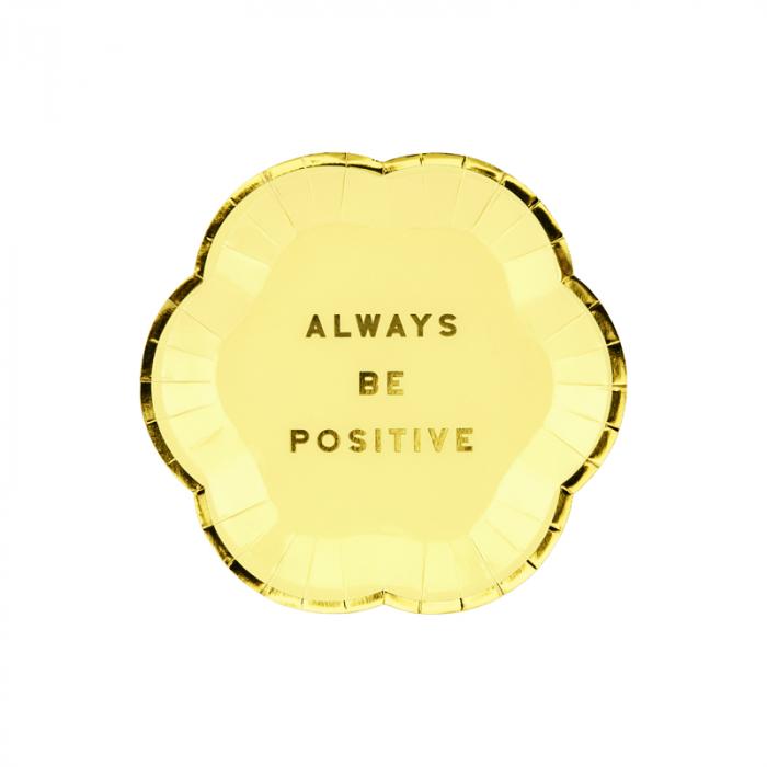 Set farfurii Yummy -Always Be Positive 13 cm [0]