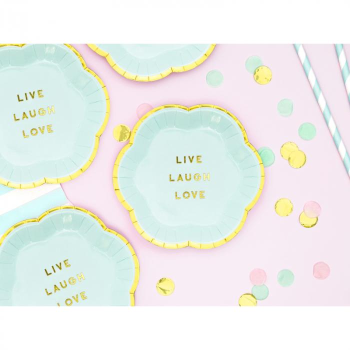 Set farfurii Yummy - Live Laugh Love 13 cm 1