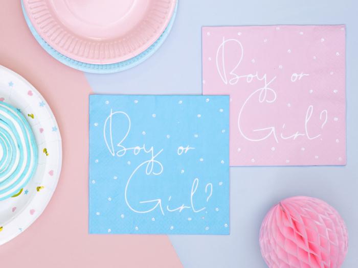 Servetele cu doua fete Boy or Girl, Gender Reveal [2]