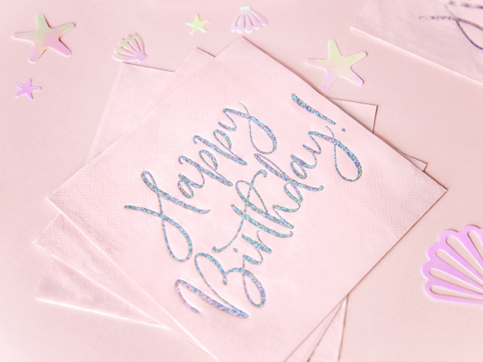 Set 20 Servetele Happy Birthday Roz, 33x33 cm 2