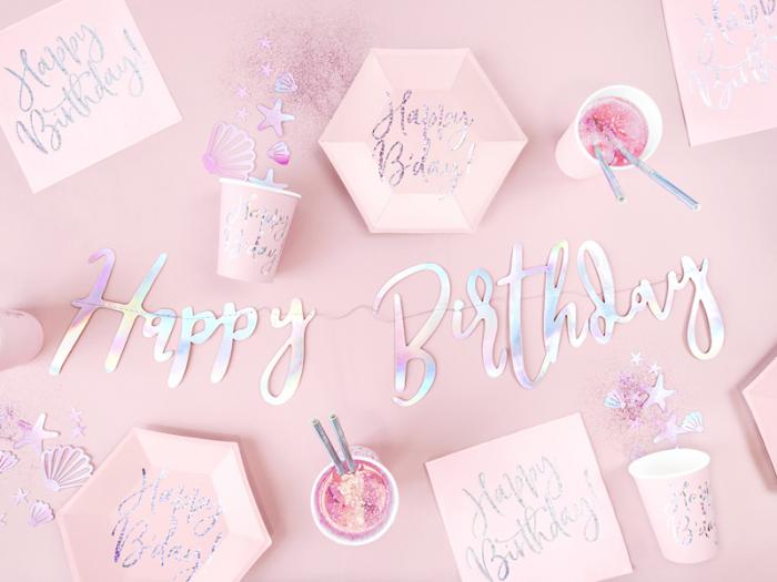 Set 20 Servetele Happy Birthday Roz, 33x33 cm 4