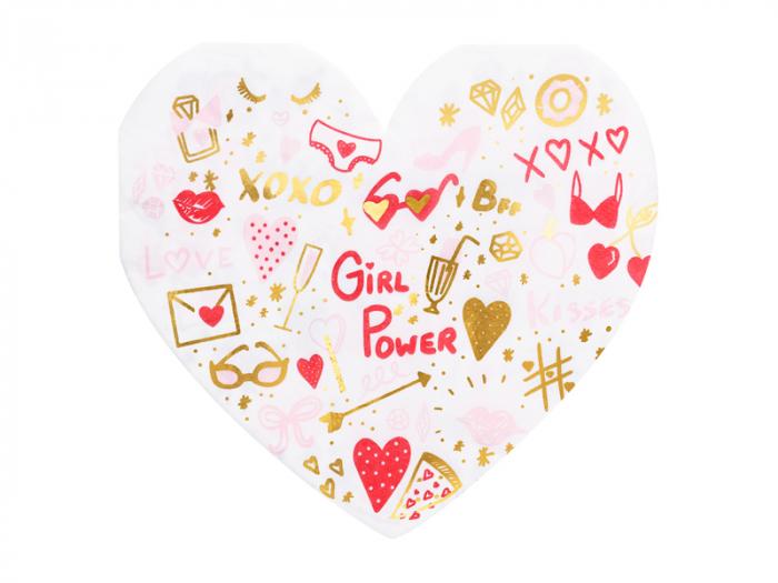 Set 20 Servetele Inima Girl Power [0]