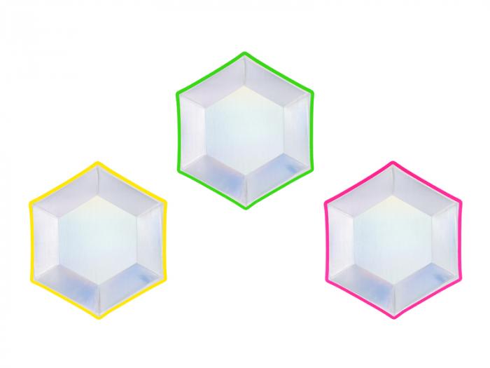 Set 6 Farfurii Holografice, 20 cm 0