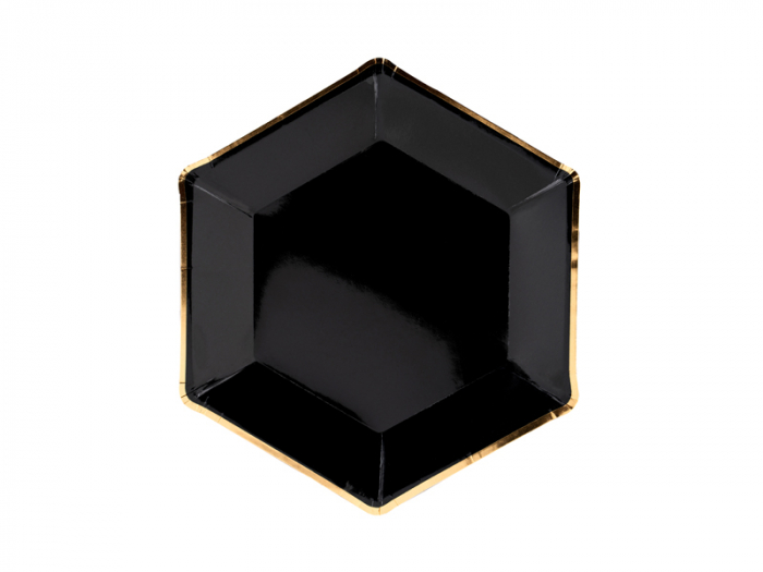 Set 6 Farfurii Negre, 23 cm 0