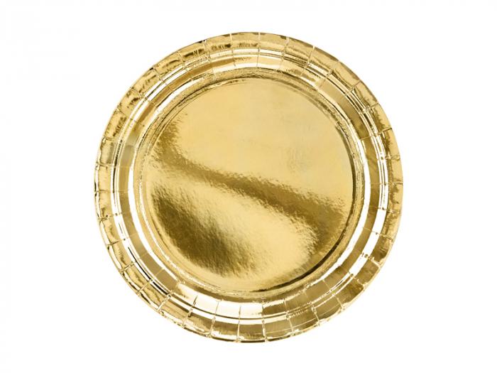 Set 6 Farfurii Aurii, 23 cm [0]