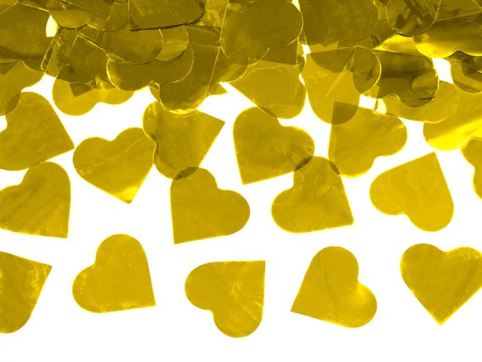 Tun Confetti Inimi Aurii, 60 cm 1