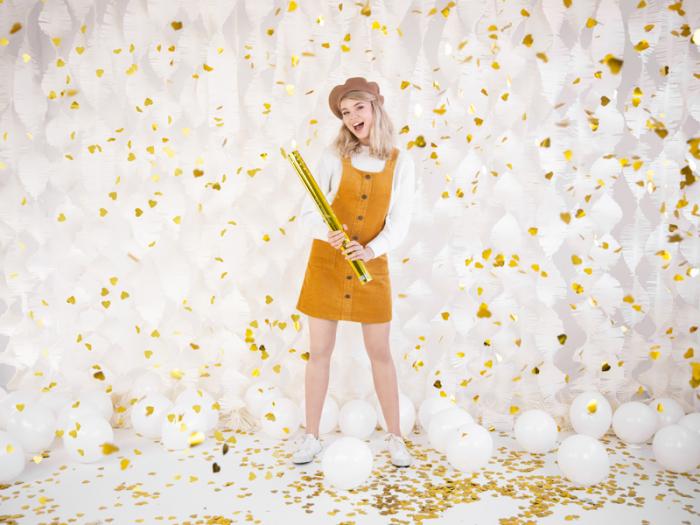Tun Confetti Inimi Aurii, 60 cm 2