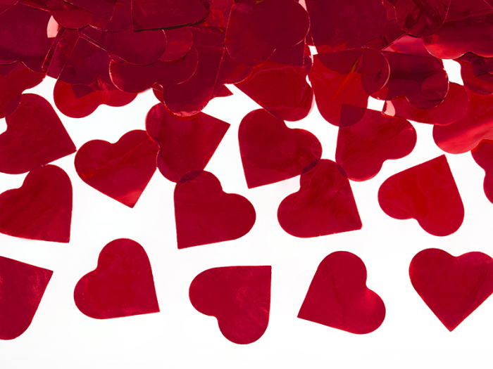 Tun Confetti Inimioare Rosii, 60 cm [3]