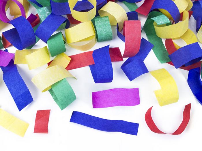 Tun confetti multicolor, 80 cm 3