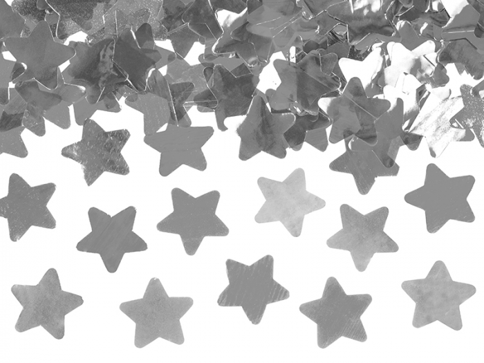 Tun Confetti Stele Argintii 80 cm [3]